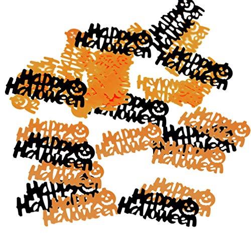 NUOBESTY 5 paquets de confettis décoratif partie de fête d'halloween paillette confetti de table pour la décoration anniversaire de fête
