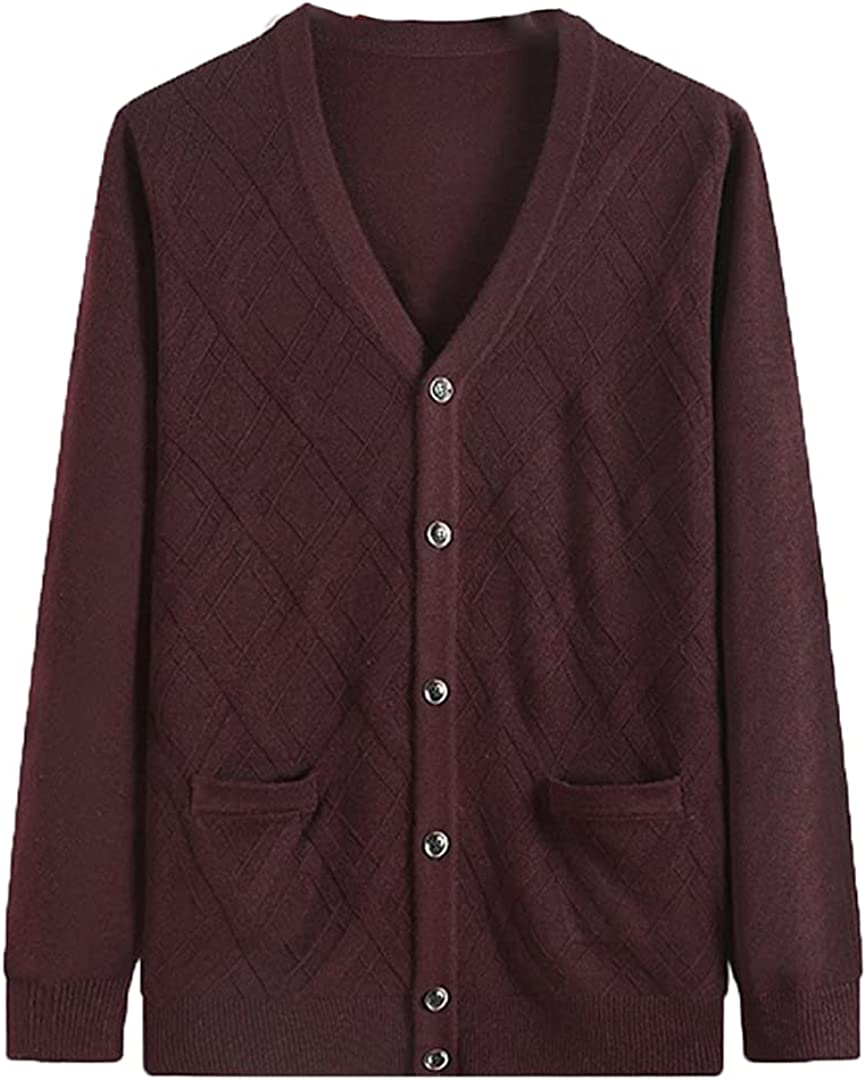 Size 8XL 7XL 6XL Cardigan Men Winter Thick Warm Sweater Knitted Warm Cardigan Sweatercoat