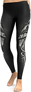 Women Fashion Cool Cosplay Robot Leg with Scratching Print Leggings