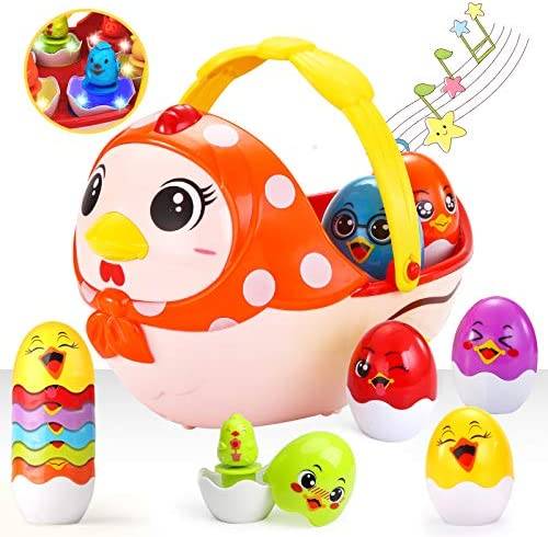 LUKAT Easter Eggs Toys Easter Basket Stuffers Filled with Lights Inside Easter Egg Decorating product image