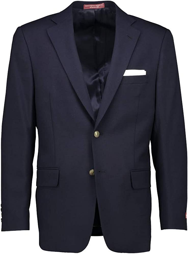 Hardwick Classic Fit Tropical Wool Navy Blazer