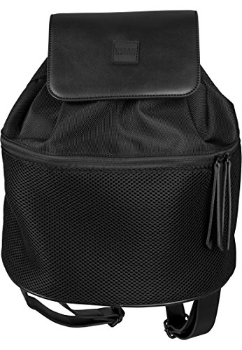 Urban Classics Midi Mesh Mix Backpack Rucksack, 30 cm, 10 L, Black
