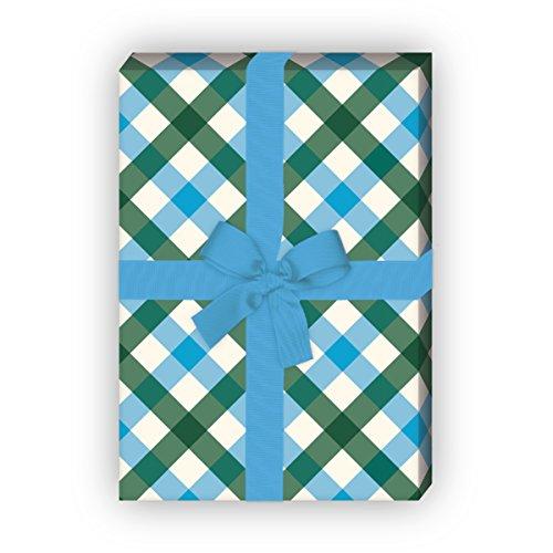 Kartenkaufrausch mooie tafelkleden Karo cadeaupapier set als luxe geschenkverpakking, doe-het-zelf projecten, knutselen, 4 vellen, 32 x 48 cm decorpapier, patroonpapier om in te pakken