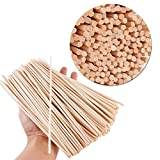 200pcs Palos Caña Palitos Reed Sticks Ratán Volátil Reemplazos para Evaporación de Ambientadores Aceite Esencial (Longitud 20cm)