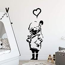 zqyjhkou Carta da parati adesiva in vinile di arte del fumetto di DIY Banksy Adesivi in vinile Camera da letto Nursery Decor79x25cm