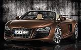Audi R8 Poster auf Seide/Siebdrucke/Tapete/Wanddekoration
