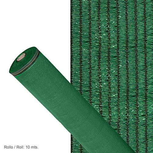 Malla Sombreo 90%, Rollo 2 X 10 Metros, Reduce Radiación, Protección Jardín Y Terraza, Regula Temperatura, Color Verde Claro