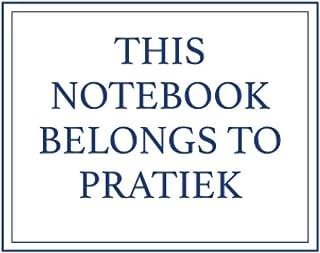 This Notebook Belongs to Pratiek