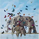 Kare Design 39251 Cuadro Elefants with Butterflies