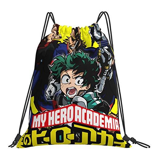 Bags My Hero Academia - Mochila deportiva con cordón, para mujer, hombre, para yoga, gimnasio, natación, viajes, playa, talla única