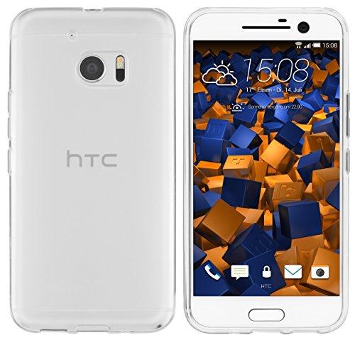 mumbi Hülle kompatibel mit HTC 10 Handy Hülle Handyhülle, transparent weiss