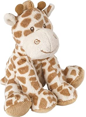 Suki Baby Small Bing Bing Soft Boa Plush Rattle with Embroidered Accents (Giraffe) by Suki Baby