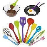 Hängende Weiche Silikon Geschirr Set Umweltfreundlich Safe Home Küche notwendigen Werkzeuge Picknick tragbare Küchensets, schwarz zhihao (Color : Black)