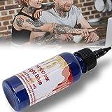 Tinta para Tatuaje, 60 ml/botella Pigmento de Tinta de Tatuaje Tattoo Ink Suministros para Tatuajes Suministros de Arte de Belleza de Color de Tatuaje(azul)