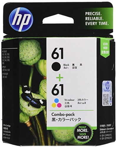 Hewlett Packard Tintenpatrone HP61Kombo-Pack (Schwarz & 3Farben) CR311AA