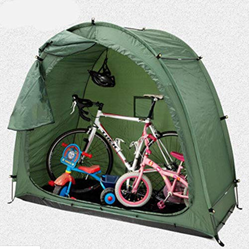 Bike Storage Shed, Bicycle Cover 190T Bike Sheds Storage Outdoor with Window Design for Outdoors Camping for Bike, Storage in Green, 200 * 80 * 165Cm