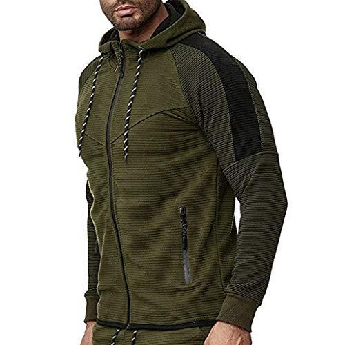 Sudadera Hombres Patchwork Slim Fit Hoodie OtoñO Moda Outwear Nueva Blusa Adolescente Top 2019 Abrigo Bolsillo Grande Pullover