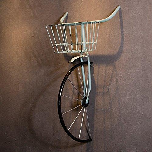 Tapicería Decorativa Bicicletas Industriales De Hierro De Viento Tienda De Ropa Retro Tienda De Té Creativo Colgante De Pared,Blue