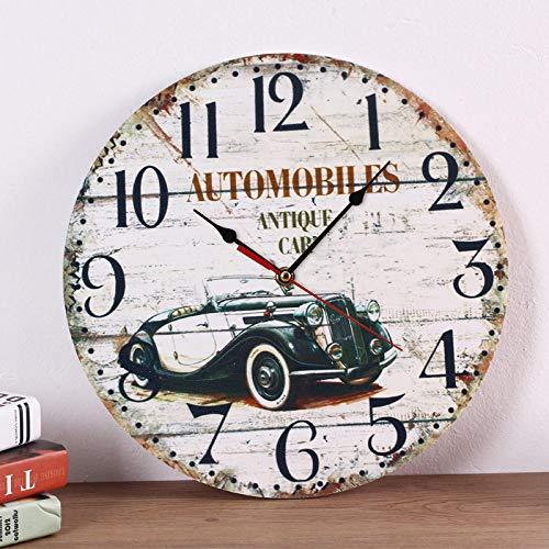 Reloj de Pared silencioso Reloj de Pared Cocina Reloj de Pared Grande Botella de Agua@Coche