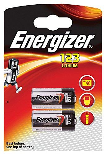 Energizer Lithium-Batterien CR123 3 V-10 Stück, 5Blister mit je 2Batterien
