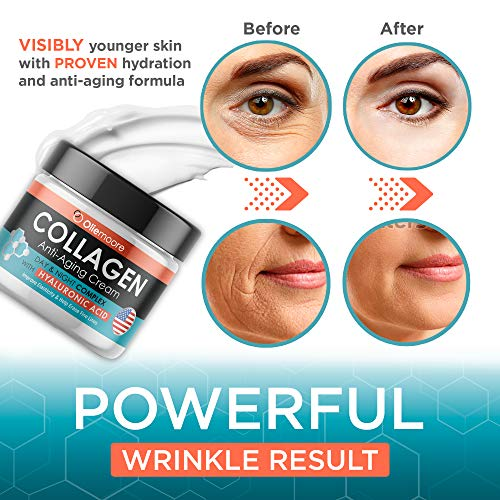 51bJCcVzwBL - Collagen Face Cream for Women - Anti Wrinkle Cream for Face with Hyaluronic Acid & Vitamin C - Day & Night Cream for Women Anti Aging Face Moisturizer