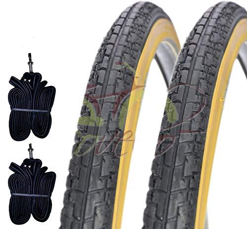 Deestone EBA28PCD 2 COPERTONI NEROPARA + 2 CAMERE d'Aria per Bicicletta Bici City Bike Trekking 700 X 35 28 1 5/8 3/8 (37-622)