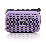 Wireless Bluetooth Speaker, Xuantoing, Mini Size, Portable Bluetooth Speaker,Handsfree/Phone/PC/MicroSD/USB Disk/AUX-in Supported (Purple-122)