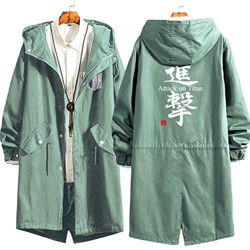 XIEZINB herfst en winter blouse Anime om de jas te pakken de enorme lange trenchcoat