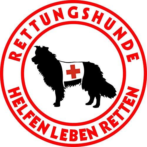 Holashirts Mallorca Border Collie Rettungshund Hütehund Autoaufkleber Folienaufkleber Hundeaufkleber Car-Sticker (Ø150mm)