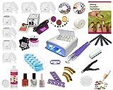 UV Gel Starterset Set, Nagelstudio Set, Anfängerset, Maniküre, Pediküre, UV Farbgele, UV Systemgele, Nailart, French
