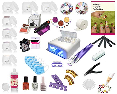 UV Gel Starterset Set, Nagelstudio Set, Anfängerset, Maniküre, Pediküre, UV Farbgele, UV Systemgele, Nailart, French