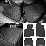 Floor Mat for Mazda CX-5 2017-2021 Heavy Duty Rubber Front+Rear Car Liner Carpet All Weather Custom Fit Waterproof Odorless (Black 4PCS)
