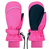 Kids Mittens Gloves Winter Waterproof Sports Snow Ski Mittens for Girls Boys Toddlers