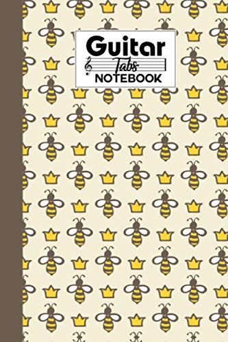 Guitar Tab Notebook: Queen Bee Guitar Tab Notebook, Music Paper Notebook, Blank Guitar Tablature Music Note, 120 Pages - Size 6' x 9'