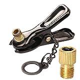 オッフル ポンプ口金 兼用口金用トンボ口 鉄 仏式/英式→米式 バルブ アダプター 自転車タイヤ バルブ コンバーター
