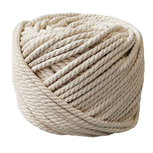 """PYJTRL 100% Natural Cotton Twisted Rope 1/12"""", 1/8"""", 1/6"""",1/5"""" (2mm(1/12Inch x 165Feet))"""
