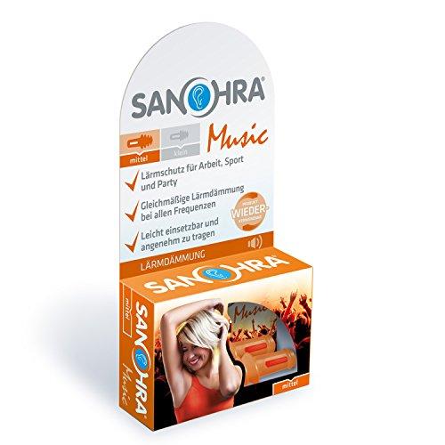 SANOHRA music für Erwachsene, Ohrstöpsel zum Lärmschutz bei Veranstaltungen, Konzerten und für Musiker