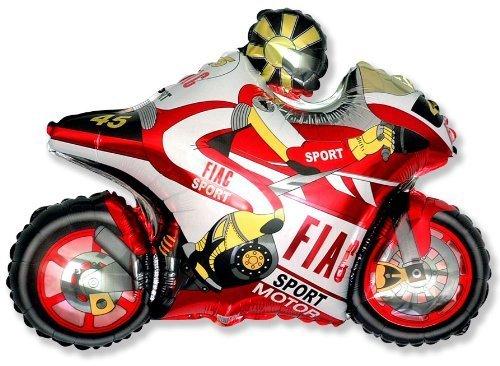 """Moto Racing Motorrad Balloon 26 """"Folie Ballon - rot [Spielzeug]"""