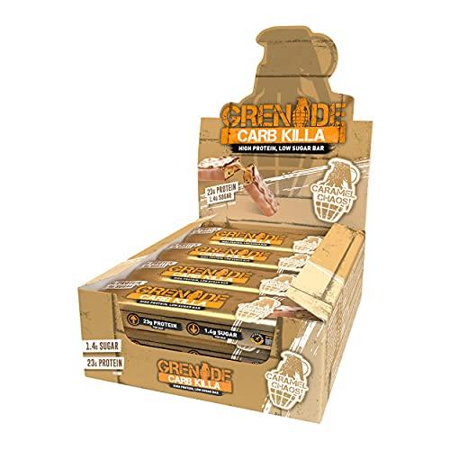 Grenade Carb Killa High Protein and Low Carb Barra Sabor Caramel Chaos - 12 Unidades ✅