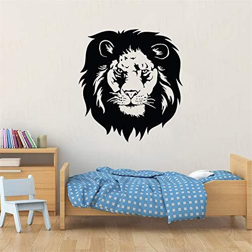 yaofale Lion Sticker Mural Roi de la Jungle Décoration de La Maison Animal Lion Salon Amovible Mural de Bande Dessinée Autocollant Mural