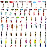 Fishing Lures Kit for Trout Baits Lure Spinners Swimbait Spoon Lures Crankbaits Minnow Hard Lure Variety Kit Fishing Baits Rooster Tail Trout Spinner Spoons Fishing Lures for Trout Salmon Walleye