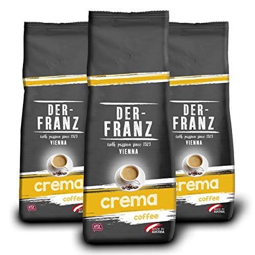 Der-Franz Espresso Crema-Kaffee UTZ, ganze Bohne, 3x500g