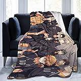 N \ A Haikyuu!!!!Collage Anime Manga Flanell-Überwurf-Decke Ultra Weiche Tagesdecke Mikrofaser Fleece Decke Langlebig Home Decor Ideal für Couch Sofa Bett 202,3 x 152,4 cm