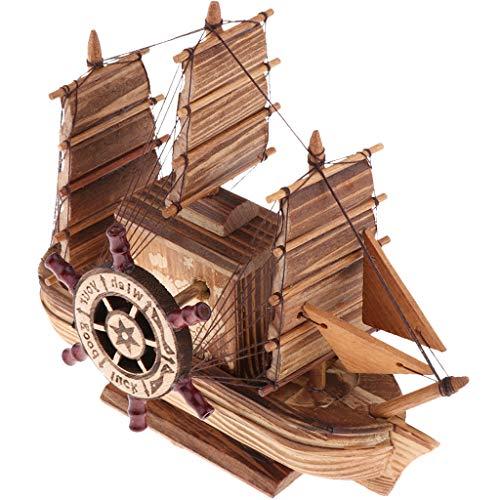 Caja Musical de Madera Aretsanía Casera Modelo de Barcos de Pesca Adornos...