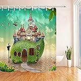 Cartoon Duschvorhänge Mango Märchen Kreativität Obst Schloss Wild Goose Kid Badezimmer Set Wasserdichter Polyester Stoff Vorhang