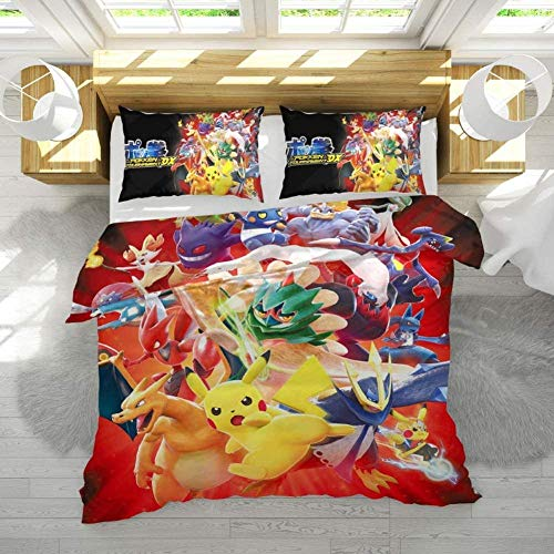 XZHYMJ Children s Bed Linen 135 x 200 Cotton Duvet Cover/Bed Set for Children Girls Boys Renforcé 3D Print Pillow Case Bed Sheet Duvet Cover Duvet Cover b 135 x 200-B_135 x 200