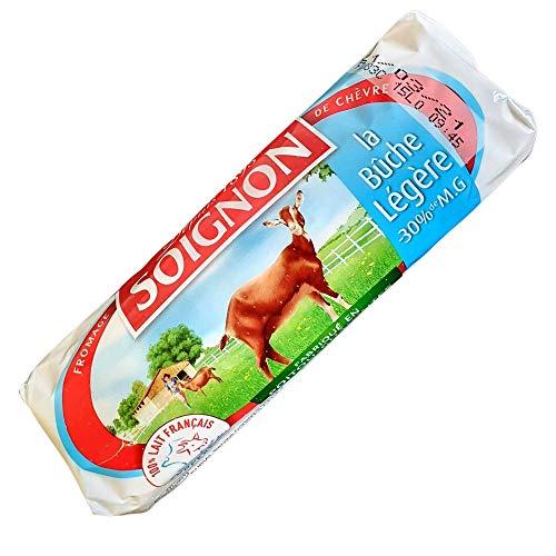 Queso Rulo de Cabra Soignon - Queso de Cabra con un 30{a1ecbdfdd2a52ede2c320965ff7a50969a77e7d308b0747ebd8c60968ed2e519} Menos de Materia Grasa - Rulo de Cabra Light - Queso proteico Bajo en Grasa - Rico queso de Cabra Frances