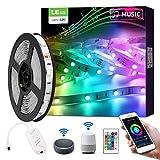 LE 5M 24W Luces de Tiras LED de la Música, WiFi Tira TV Multicolor (Solo 2,4 GHz), Control de Voz y APP Inteligente, Compatible con Alexa y Google Home, Decoración para Hogar, Habitación, Dormitorio