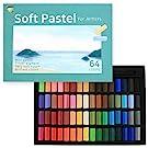 HA SHI (64 Colors) Non Toxic Soft Pastels Set for Professional - Square Chalk pastel Assorted Colors