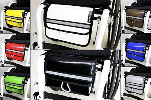 Rollstuhltasche 2.0 rollibag.de, praktische Schlüsselspirale gratis, Alles sicher und griffbereit. Wertsachen gut verstaut unter dem Sitz. (Schwarz)